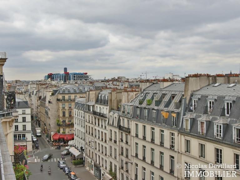 Haut-MaraisSquare du Temple – Dernier étage rénové avec vue – 75003 Paris (14)