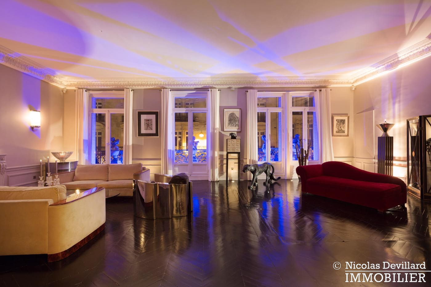 George VMarbeuf – Somptueux appartement de réception avec 2 grandes suites – 75008 Paris (17)