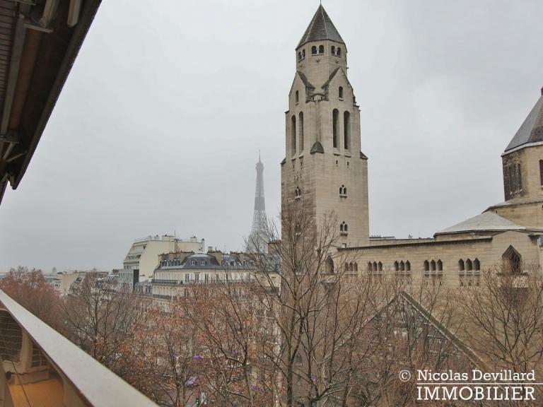 MarceauChaillot – Grand salon, vue et balcons - 75008 Paris (6)